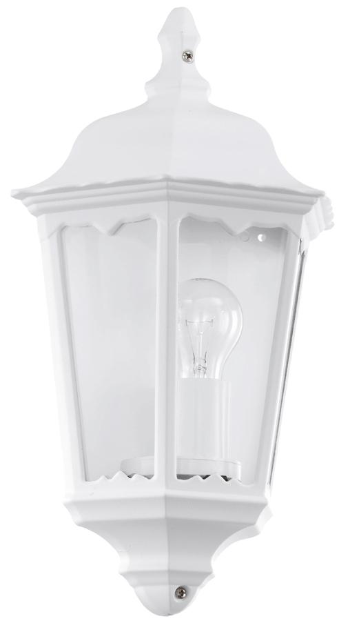 White Victorian Style Outdoor Half Wall Lantern Light 93448