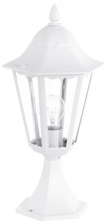 Small White Victorian Style Outdoor Post Light