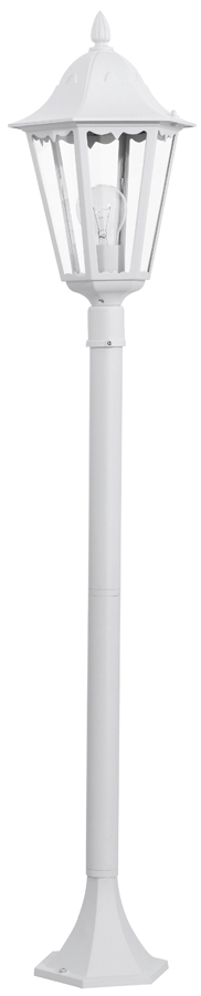 Short White Victorian Style Outdoor Post Light