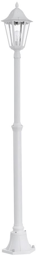 White Victorian Style Outdoor Single Lamp Post