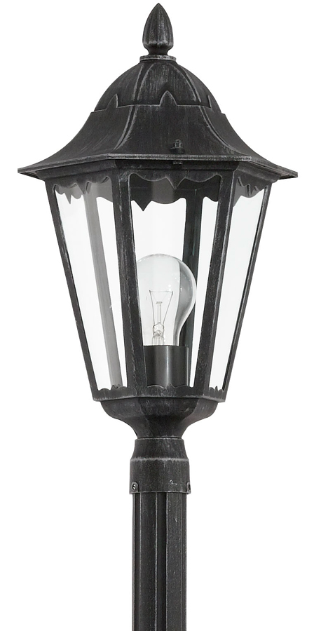 Traditional tall victorian style outdoor post light 93464 for Victorian style exterior lighting