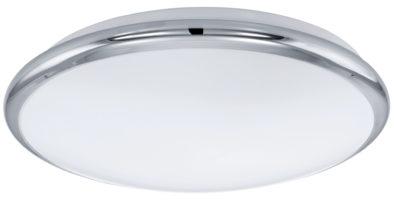 Small Chrome Trim LED Flush Ceiling Light