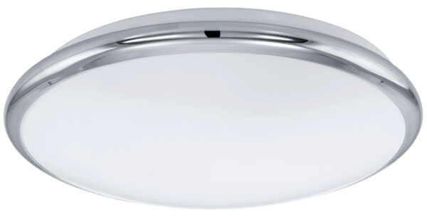 Small Chrome Trim LED Flush Ceiling Light
