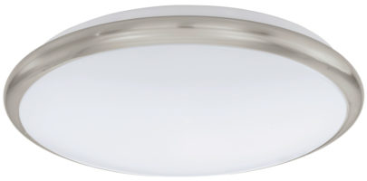 Small Satin Nickel Trim LED Flush Ceiling Light