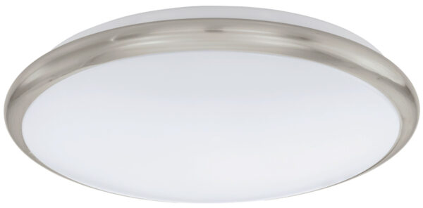 Small Satin Nickel Trim LED Flush Ceiling Light