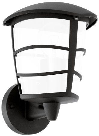 Modern Black Upward LED Outdoor Wall Lantern