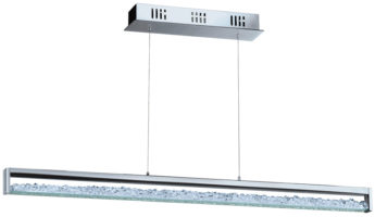 Cardito Chrome And Crystal Touch Dimmer LED Ceiling Pendant