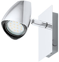 Corbera Retro Chrome Switched LED Wall Spot Light
