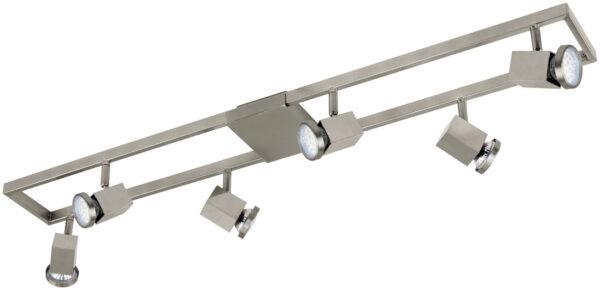 Modern Satin Nickel LED 6 Light Ceiling Spotlight Zeraco