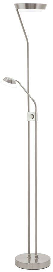 Modern Satin Nickel Mother And Child LED Floor Lamp