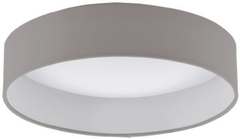 Palomaro 11w LED Flush Mount Taupe Fabric Circle Ceiling Light