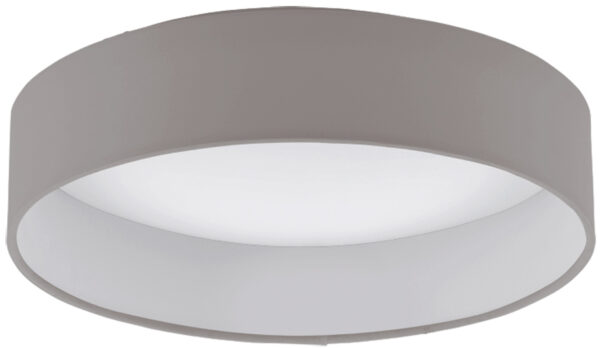 Small Taupe Fabric Circle LED Flush Ceiling Light