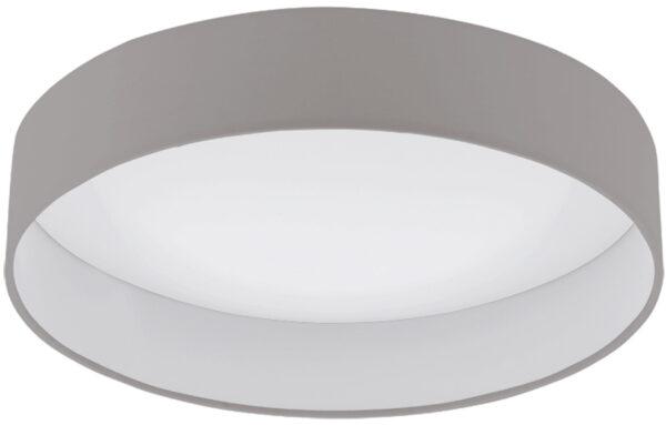 Medium Taupe Fabric Circle LED Flush Ceiling Light