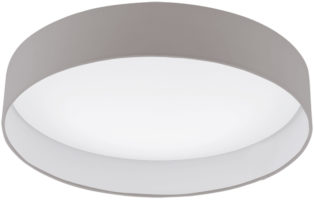 Palomaro 24w LED Large Flush Mount Taupe Fabric Circle Ceiling Light