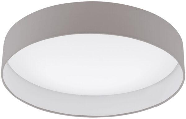 Palomaro 24w LED Large Flush Mount Taupe Fabric Circle Ceiling Light