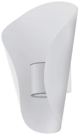 Bosaro White Curved Outdoor LED Wall Light IP44