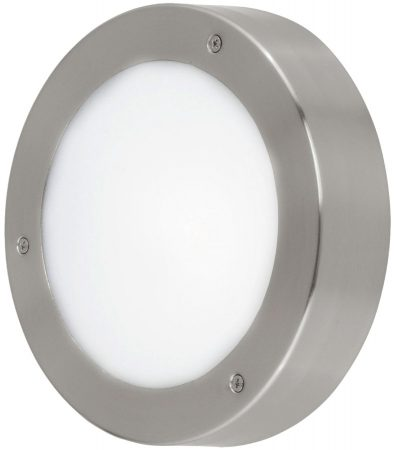 Vento Stainless Steel 185mm Circular LED Outdoor Wall Light
