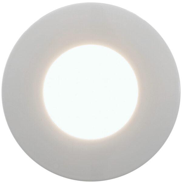 Margo White Steel Outdoor Soffit LED Spotlight