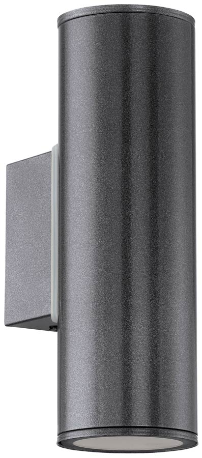 Riga anthracite outdoor led up and down wall light 94103 for Exterior up and down lights led