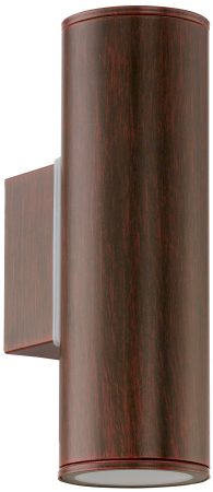 Riga Brown Outdoor LED Up And Down Wall Light