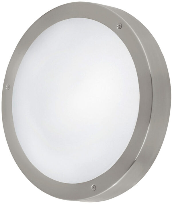 Vento Stainless Steel 285mm Circular LED Outdoor Wall Light
