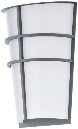 Breganzo Silver Art Deco Style Outdoor LED Wall Light IP44