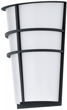 Breganzo Anthracite Art Deco Style Outdoor LED Wall Light IP44