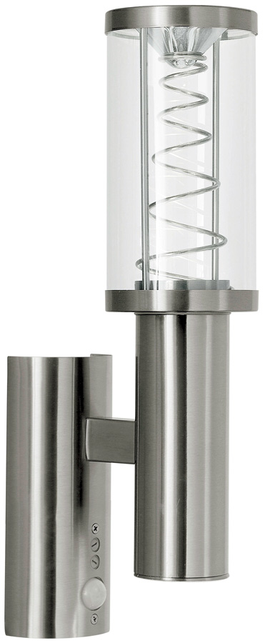 Trono Twist Stainless Steel Pir Outdoor Led Wall Light 94209