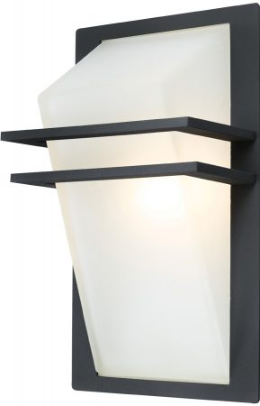 Park Angular Anthracite Aluminium Flush Outdoor Wall Light