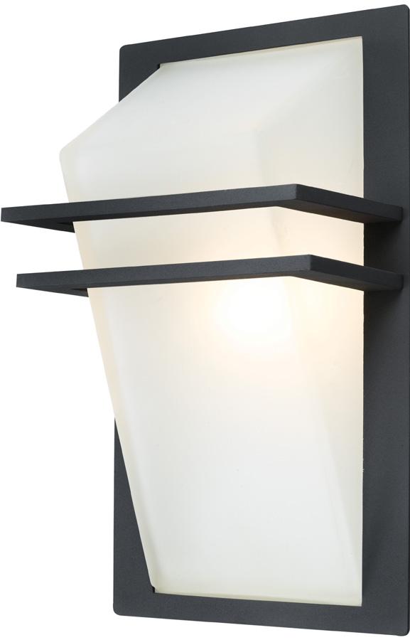 Park Angular Anthracite Aluminium Flush Outdoor Wall Light