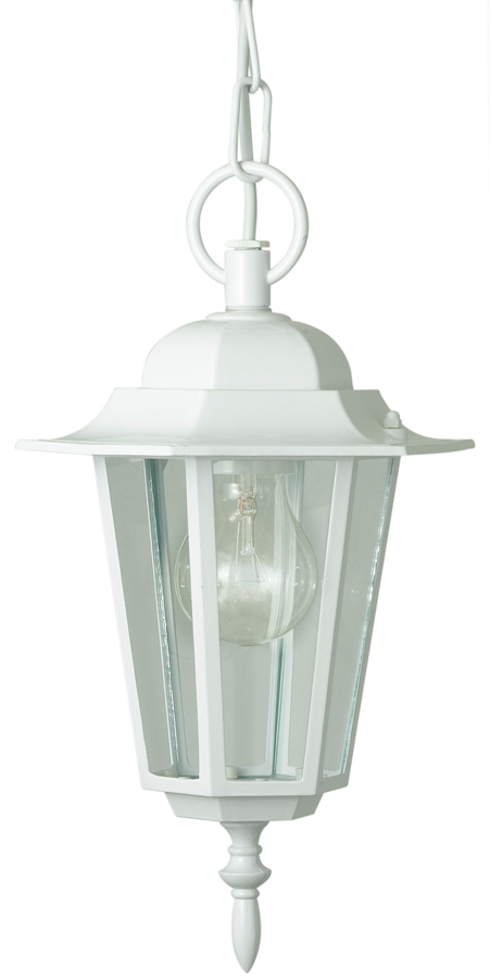 Laterna Traditional White Hanging Porch Light Outdoor