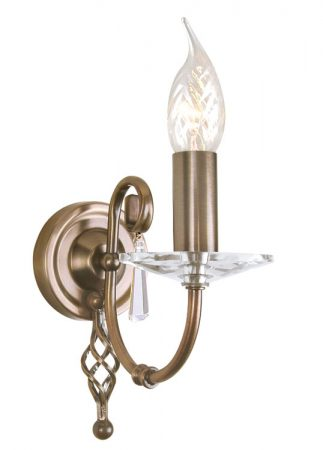 Elstead Aegean Hand Forged Aged Brass Single Wall Light