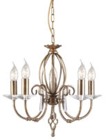Elstead Aegean Dual Mount 5 Light Aged Brass Chandelier