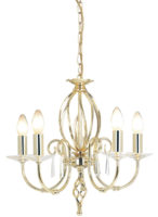 Elstead Aegean Dual Mount 5 Light Polished Brass Chandelier