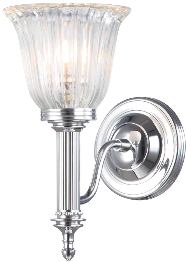 edwardian bathroom lighting carroll edwardian nickel bathroom wall light fluted shade 12765