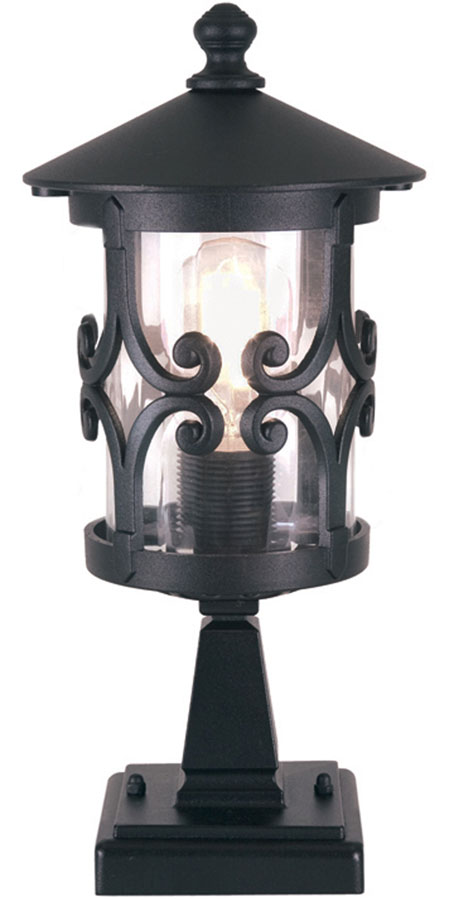 Elstead Hereford Old English Outdoor Post Top Light Black