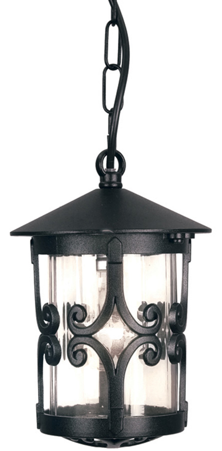 Elstead Hereford Old English Hanging Outdoor Porch Lantern Black