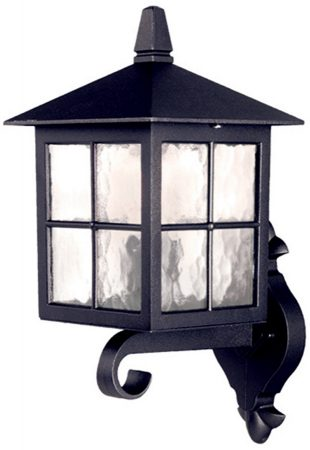 Elstead Winchester 1 Light Outdoor Upward Wall Lantern Black