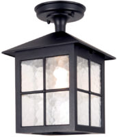 Winchester Traditional Flush Black English Porch Lantern