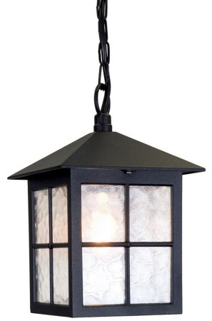 Elstead Winchester 1 Light Hanging Outdoor Porch Lantern Black