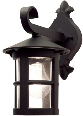 Elstead Hereford Traditional Outdoor Down Wall Lantern Black