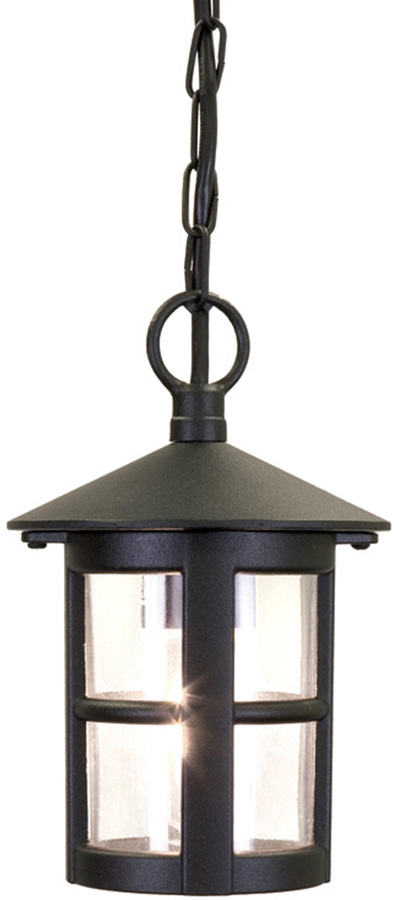 Elstead Hereford Traditional Hanging Outdoor Porch Lantern Black