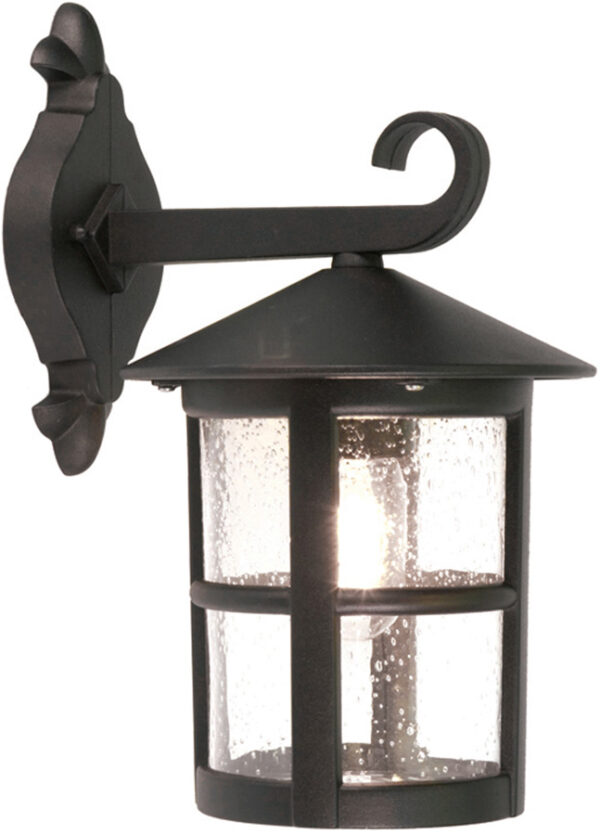 Elstead Hereford Traditional Grande Outdoor Down Wall Lantern Black