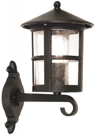 Elstead Hereford Traditional Grande Outdoor Up Wall Lantern Black