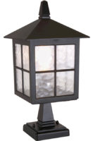 Winchester Traditional Black Outdoor Post Top Light