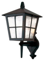 Elstead Canterbury Black Traditional Wall Mounted Outdoor Lantern