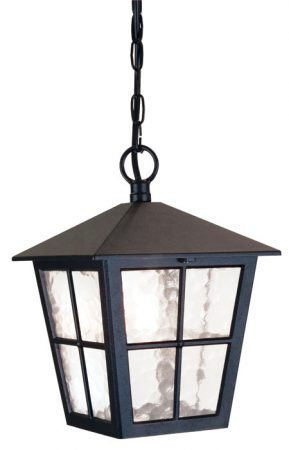 Elstead Canterbury Traditional Black Hanging Outdoor Porch Lantern