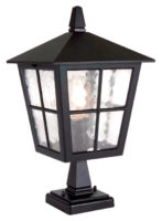Elstead Canterbury Traditional Black Outdoor Post Top Lantern