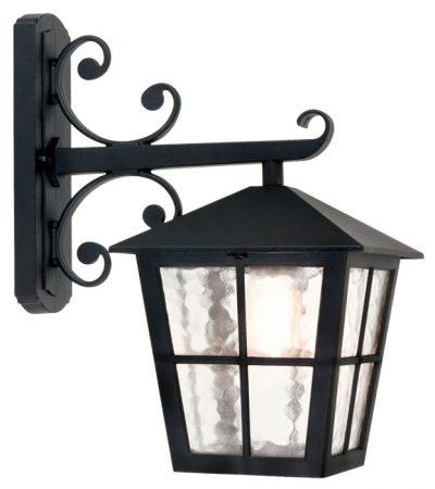 Elstead Canterbury Scroll Black Wall Mounted Outdoor Lantern