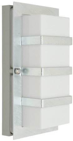 Norlys Boden Art Deco Style Galvanised Outdoor Wall Lantern Opal Lens